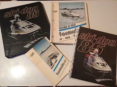 Vintage Bombardier Ski-doo Snowmobile 1985 Formula SS MX Plus Owner's Manuals
