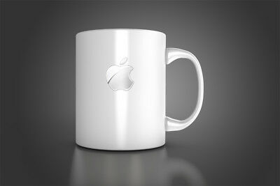 Apple Mug Cup Apple silver logo mug for APPLE FAN,   Germany Coffee Tea MUG