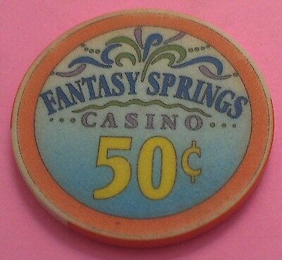 Fantasy Springs Casino ~ 50-Cent Casino Chip ~ Indio, California ~ 1995 ~ Linen?
