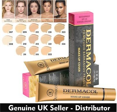 GENUINE Dermacol Makeup Cover Legendary High Covering Foundation Concealer UK