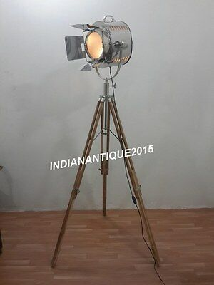 NAUTICAL THEATER SPOTLIGHT Floor Lamp Searchlight With Tripod Stand ...