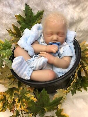 "Cherish Dolls Childrens Reborn Real Baby Boy Finn Realistic 22"" Rooted Hair Uk"