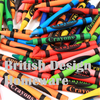 Wax Crayons 24/48/144 Multi Assorted Pack Kids Colour Childrens Classroom Crayon