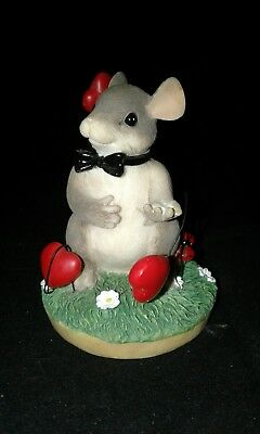 Fitz Floyd Charming Tails My Hearts All A Flutter Mouse Valentine Figurine LI