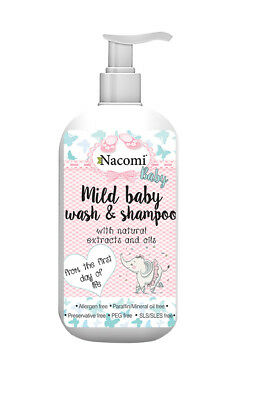 NACOMI MILD BABY WASH & SHAMPOO with oils from the first day of life NO PARABEN