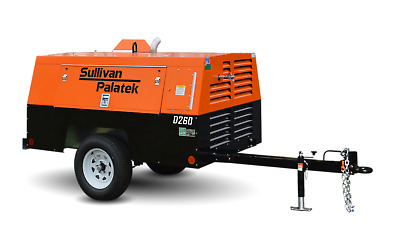 New DUAL OUTPUT Portable Air Compressor 185 or 260 CFM, 100 or 150 PSI, Sullivan