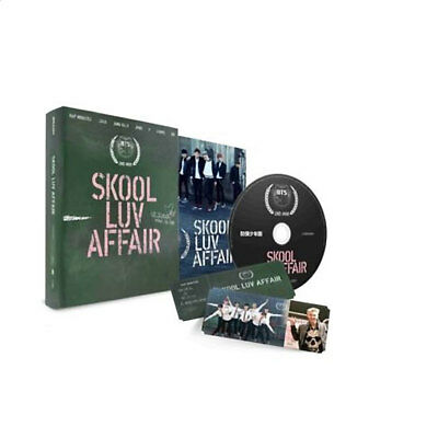 BTS-[SKOOL LUV AFFAIR] 2nd Mini Album CD+Photo Card+115p Booklet+1p Gift Car