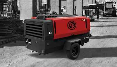 2018 400 CFM 200 PSI Portable Diesel Air Compressor Chicago Pneumatic CPS400 T4F