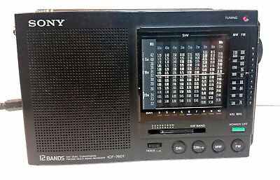 Sony ICF-7601 radio SW 12 bands-MW-FM in good condition and fully working