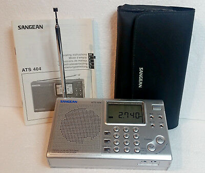 Sangean ATS404 radio SW-MW-FM in good condition and fully working