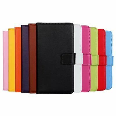 For Samsung Galaxy J5 Genuine Leather Flip Case Stand Wallet Cover Skin Pouch