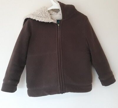 Boys Boden Fleece Age 5-6 In Vgc! Brown, Thick, High Quality!