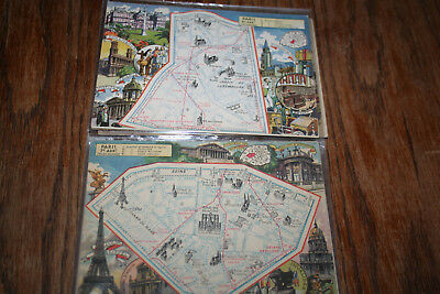 Lot  20 Cartes Blondel La Rougery Arrondissements de Paris 1 à 20 Série complète