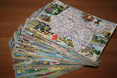 Lot  89 cartes Blondel La Rougery Départements français 1 à 90 sauf 83 Var N° 84