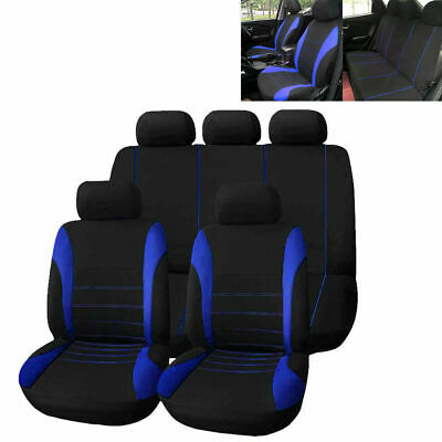 UNIVERSAL CAR SEAT COVERS Sporty Full Set Washable Pet Dog Cat Airbag Compatible