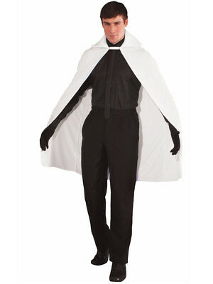 "Adult White 45"" Phantom Magician Costume Cape"