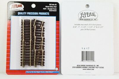 Atlas Code 83 Straight Track Assortment (12 pieces) Nickel Silver ATL524