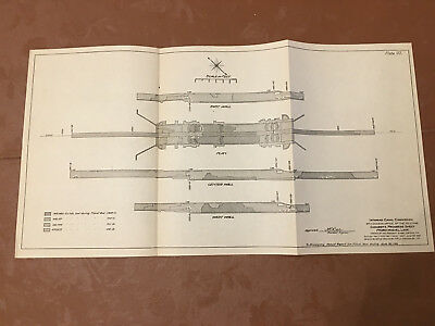 1913 Panama Canal Sketch Diagram Concrete Progress Sheet Pedro Miguel Lock