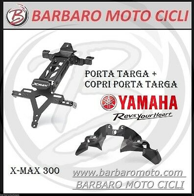 Set Coverage Cover+License Plate Holder Sport Original Yamaha Xmax X-Max 300 17
