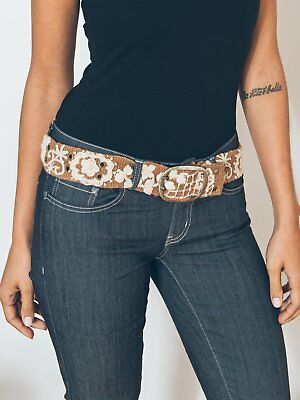 Two-Tone Floral Belt Hand Embroidered Wool Jenny Krauss Fair Trade Eco