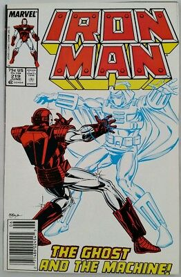 IRON MAN # 219 First GHOST Appearance 1987 Ant-Man Wasp Movie NM- Marvel Comics