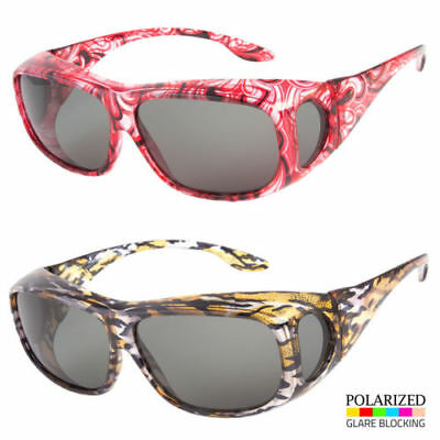 49ef0ad5f80 Polarized Fit Over Women Sunglasses Cover All Glasses Driving Wrap Solar  Shield