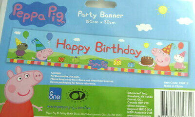 peppa pig party banner decorations unisex boys girls birthday kids characters