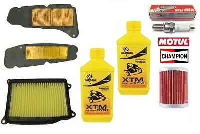 Replacement Kit Yamaha Majesty 400 10 2011 Oil Bardahl Synt+Filters + Spark Plug