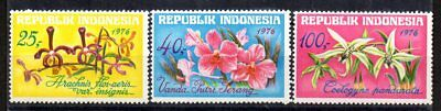 Indonesia - 1976 Flowers / Orchids Sg 1448-1450 MNH - Cat £12