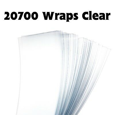 20700 Battery Wraps - Clear 2, 4 or 6 Extra Thick Heavy Duty