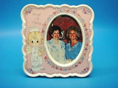 "ANGEL OF MERCY PICTURE FRAME ""NURSE"" Precious Moments 4"" ceramic ENESCO 129909"
