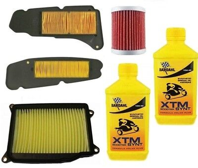 Replacement Kit Yamaha X Max Xmax 400 2015 Oil Bardahl Xtm Synt 10W40 + Filters
