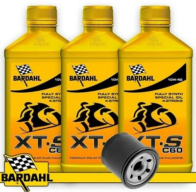 Replacement Kit Bardahl Xts C60 + Oil Filter Yamaha T Max Tmax 500 2001 - 2003