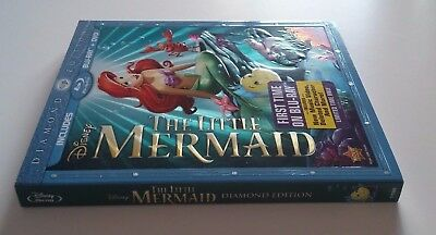 The Little Mermaid (Blu-ray/DVD, 2013, 2-Disc, Diamond Edition) Disney OOP New!