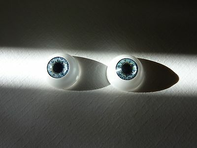 16mm acrylic doll half eyes SEAFOAM BLUE  GORGEOUS !!!  reborn