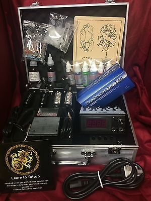 Ss1 Complete Tattoo Kit, 1 Machine, Digital Power Uk Ink And Needles