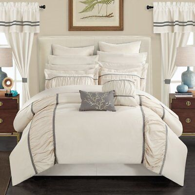 AUBURN 24-PIECE BED In a Bag King Comforter Set by Chic Home