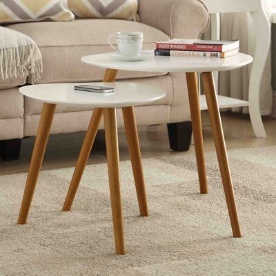 Convenience Concepts Oslo 2 Piece Nesting End Table