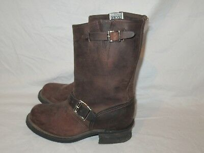 e95d3cdf9bc3e FRYE WOMEN'S ENGINEER 12r, Brown Leather motorcycle Boots style #77400, sz  6.5