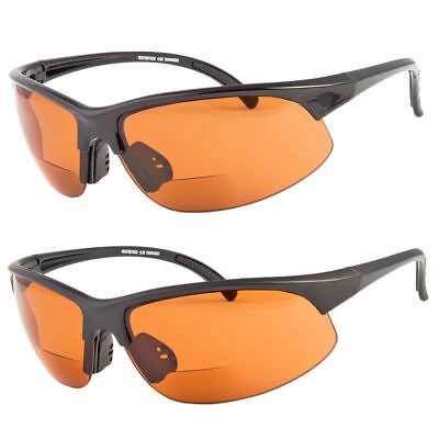 New Bifocal Safety Reading Sun Glasses Driving Sunglasses Anti Glare Sport