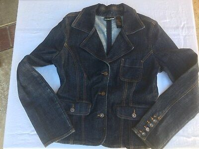 DKNY Jeans - Women's Casual Fitted Denim Jean Jacket - Great Design - Size Large