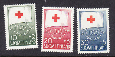 Finland Red Cross 1957 Complete set 579/81 Mint