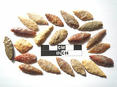 20 x Leaf Style Neolithic Arrowheads - 4000BC - (981)