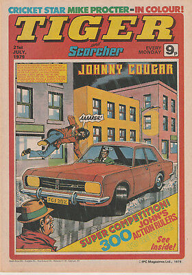 Tiger & Scorcher Comic 21St July 1979 - Middlesex Cricket Team - Mike Procter