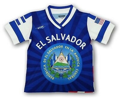 pretty nice e5362 51223 NEW EL SALVADOR Kids Youth Soccer Jersey USA Proud Shirt 100% Polyester