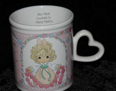 Precious Moments 1996 Coffee Cup You Have Touched So Many Hearts Valentine Gift