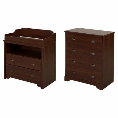 South Shore Fundy Tide Changing Table and 4 Drawer Chest