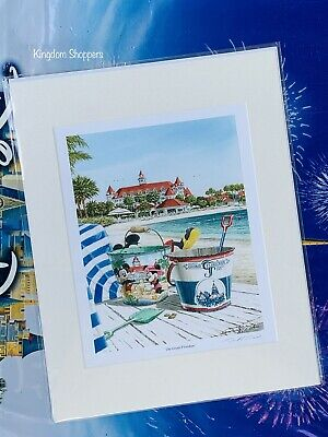 DISNEY'S GRAND FLORIDIAN DELUXE PRINT BY DOSS NEW WALT DISNEY WORLD 11x14