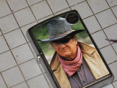 A New Windproof ZIPPO USA LIGHTER Rooster Cogburn John Wayne Hero carbine Cowboy