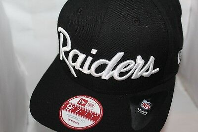 0edce11d44d OAKLAND RAIDERS NEW Era NFL Retro Script 9Fifty